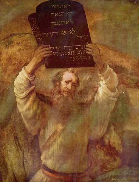 Prophet Moses by Rembrandt