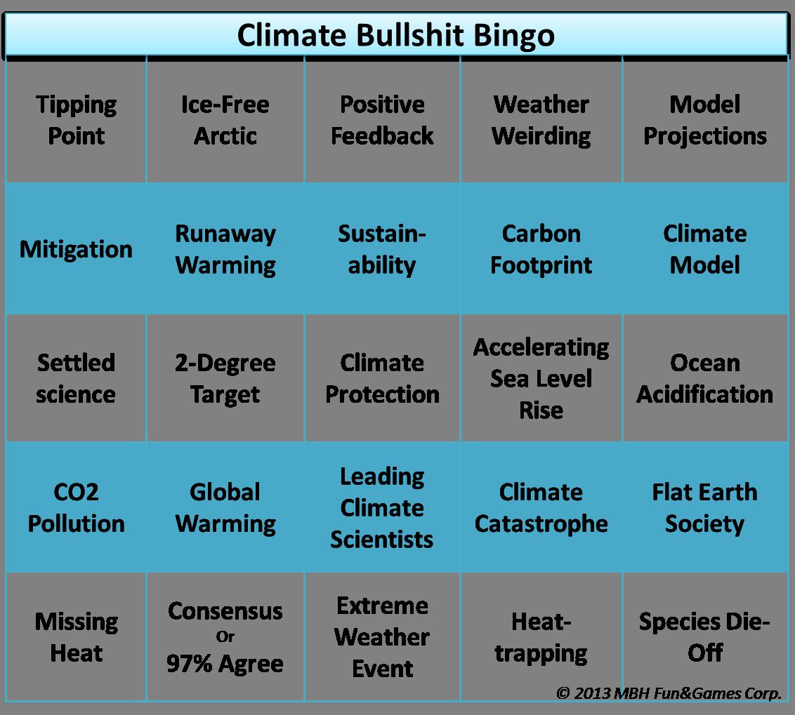 Bullshit Bingo Climate 2