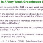 Swiss Physicist Concludes IPCC Assumptions 'Violate Reality'...CO2 A 'Very Weak Greenhouse Gas'