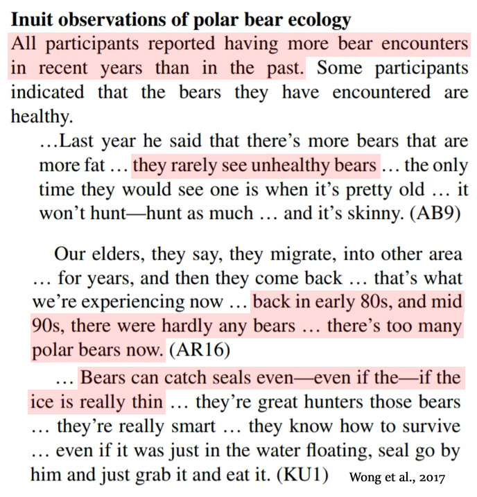 Smore Misrepresentation Of Research >> 2 New Papers 92 Of Polar Bear Subpopulations Stable Increasing