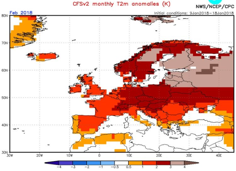 Europe facing coldest march in years global surface temperatures thats quite a turnaround given that the earlier cfs forecast made back in mid january which showed blow torch temperatures cooking europe in february publicscrutiny Images