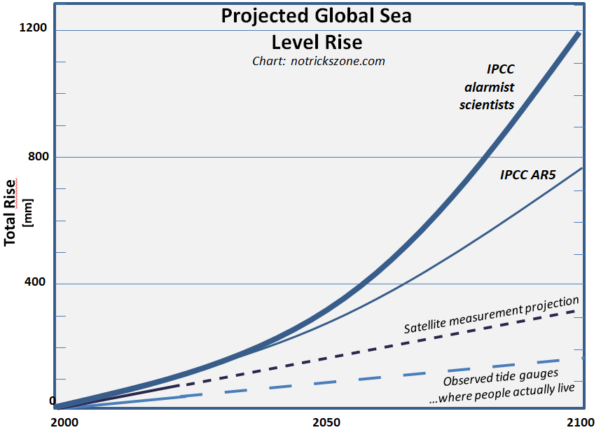 Sea Level Rise Rate Along Coast So Far Only About One Seventh Of
