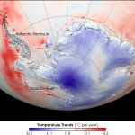 he Antarctic continet has cooled, not warmed.