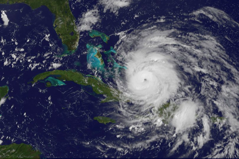 Huricane Irene, 2011, NASA photo