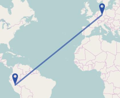 Peru Germany distance