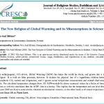 "New Paper By Renowned Sea Level Expert Nils-Axel Mörner, Calls AGW A ""New Religion"" Built On ""False Premises."""