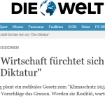 "Paris Fallout: ""Radical"" Climate Bill Stuns German Industry ...Warn Of ""Catastrophic Consequences"" And ""Climate Dictatorship"" ...""A Poison List Of Draconian Measures""!"