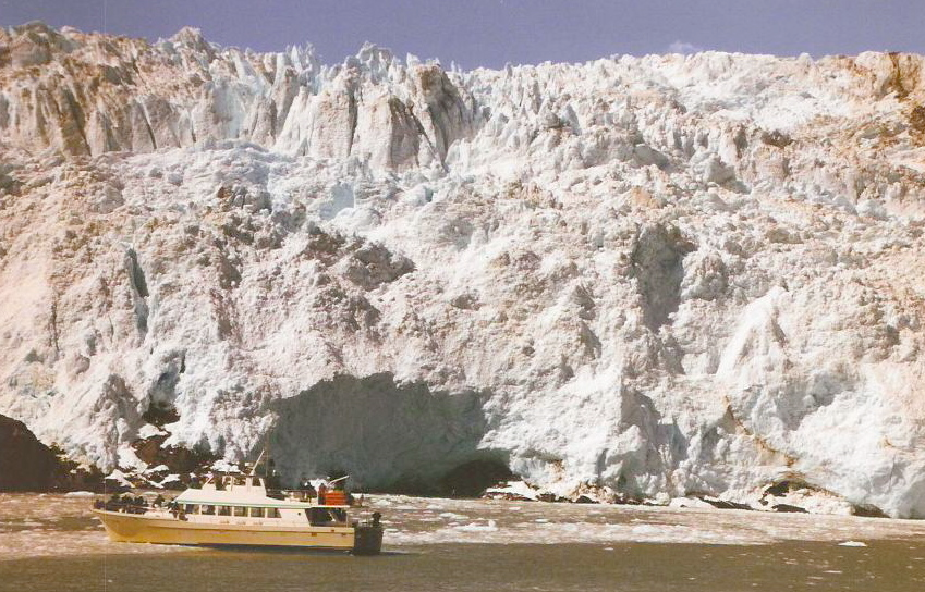 Glacier and boat