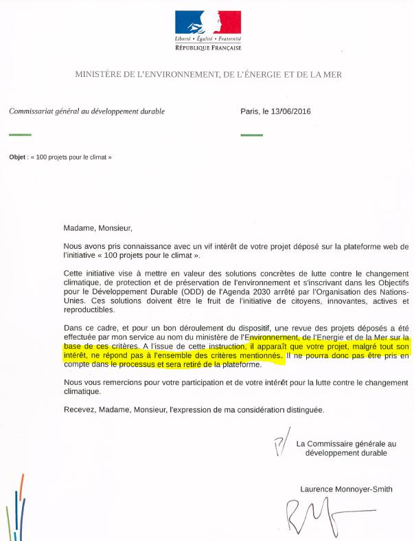 FrenchGov letter