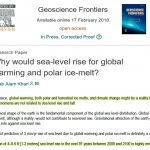 Groundbreaking New Paper Finds Global Warming, Ice Melt 'Not Related To Sea Level Rise'