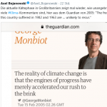 "Monbiot's 2005 Irrationality Exposed As Deadly Cold Sweeps Over Europe, UK Sees ""Coldest Spring Day On Record"""