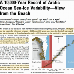 Arctic Sea Ice 8000 Years Ago less Than Half Of Today's, Yet Polar Bears Thrived!