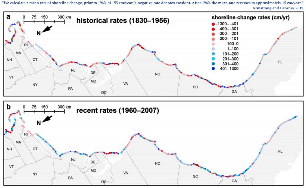 New Study: U S  East Coast Has GROWN +5 cm/year Since 1960