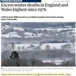 New Studies: Cold-Temperature Deaths Rising And 10-20 Times More Common Than Heat-Related Deaths