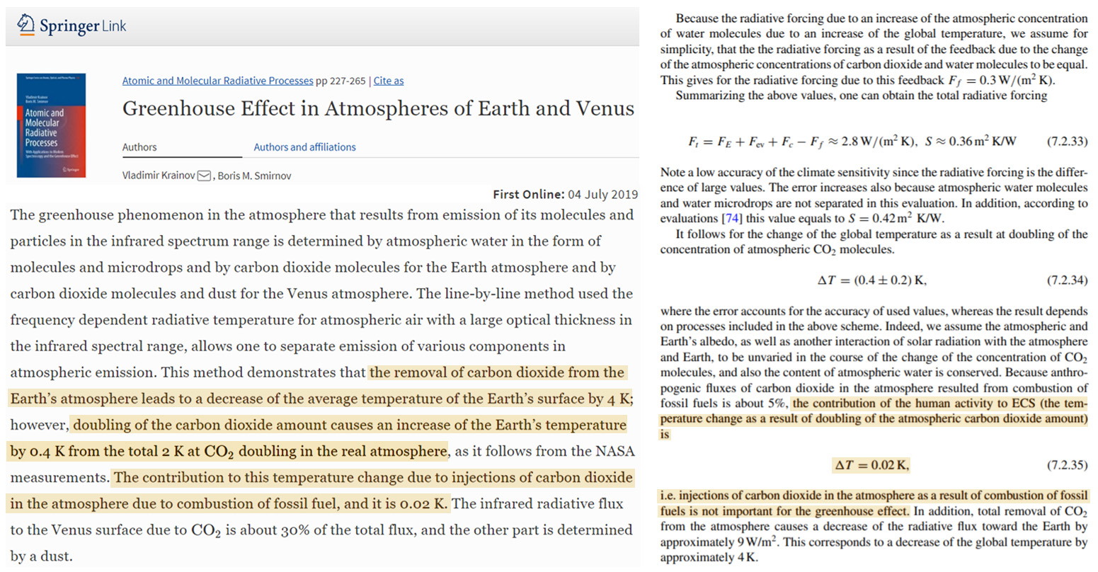 New Papers: Ex-NOAA Climatologist And Russian Physicists