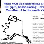 During The Last Ice Age (190 ppm CO2), Horses Grazed In A Forested, Warmer-Than-Today Arctic Alaska