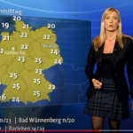 Public Manipulation: German ARD Television Using Red Hot Weather Charts For Showing Cool Temperatures