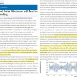 Astrophysicist Asserts The Globe Will Cool ~1°C During 2020-2053 Due To An Oncoming Grand Solar Minimum