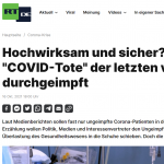 Robert Koch Institute Latest Data: One Third Of Recent Age 60+ COVID Deaths In Germany Were Fully Vaccinated!